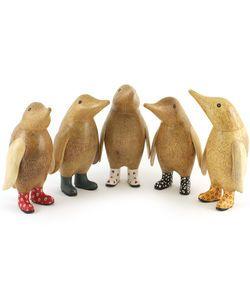 Pingviner med gummistøvler med mønster
