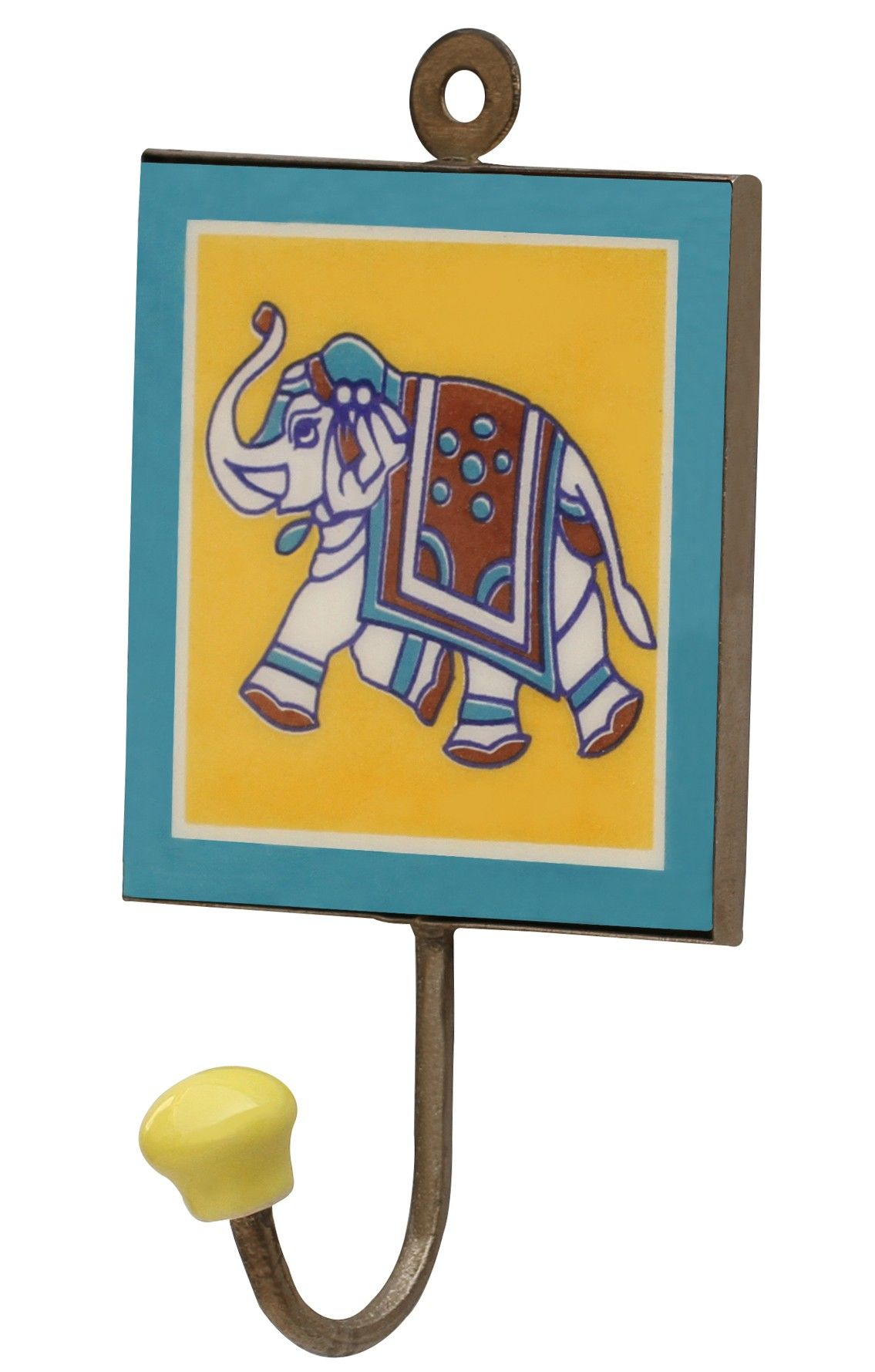 "Elephant Tales - #Handmade 6.2"" Ceramic #Wall #Hooks with #Elephant ..."