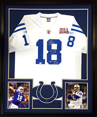 new arrival 4f27c 63a27 autographed peyton manning colts jersey