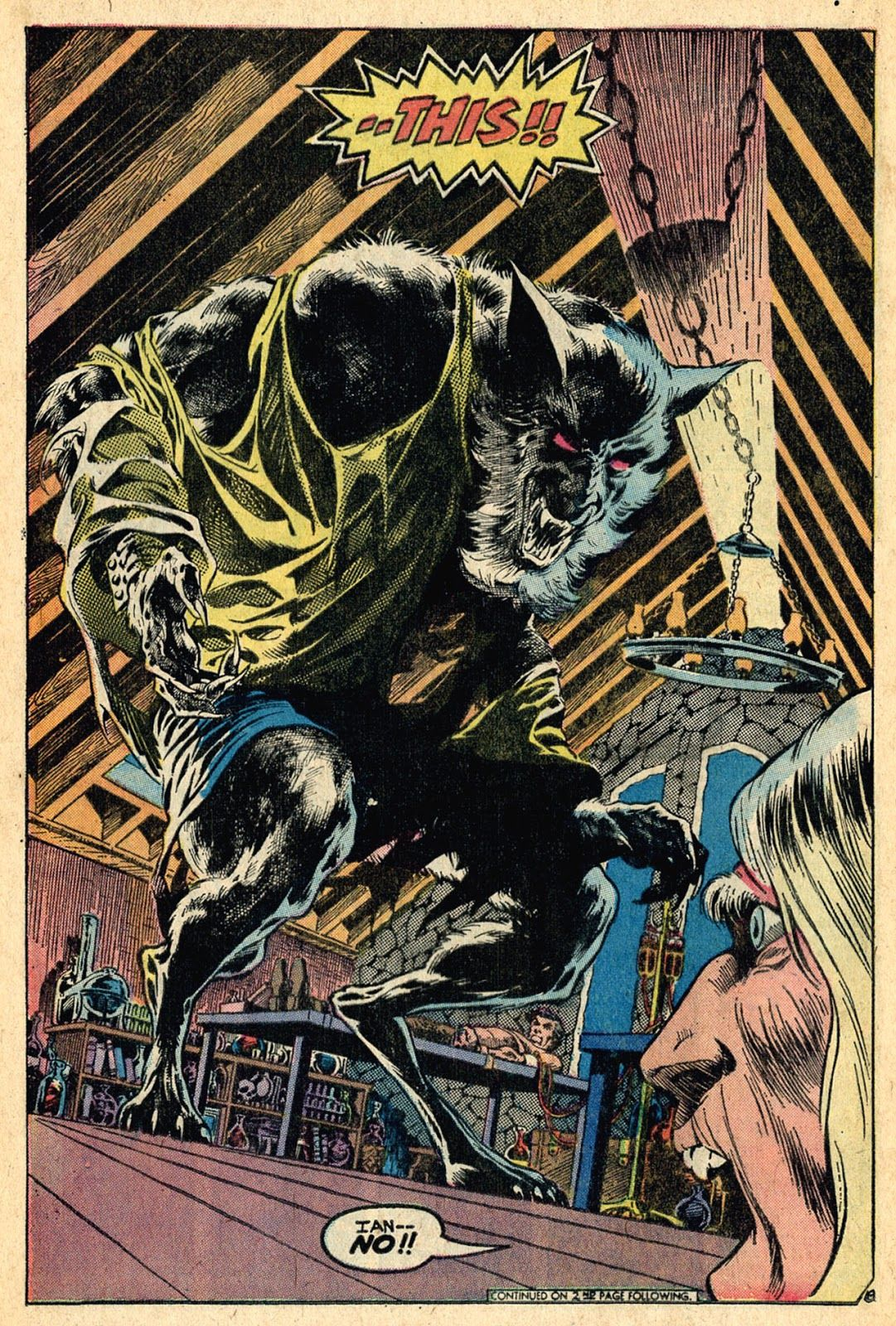 Werewolf transformation by Bernie Wrightson, from Swamp Thing (Vol ...