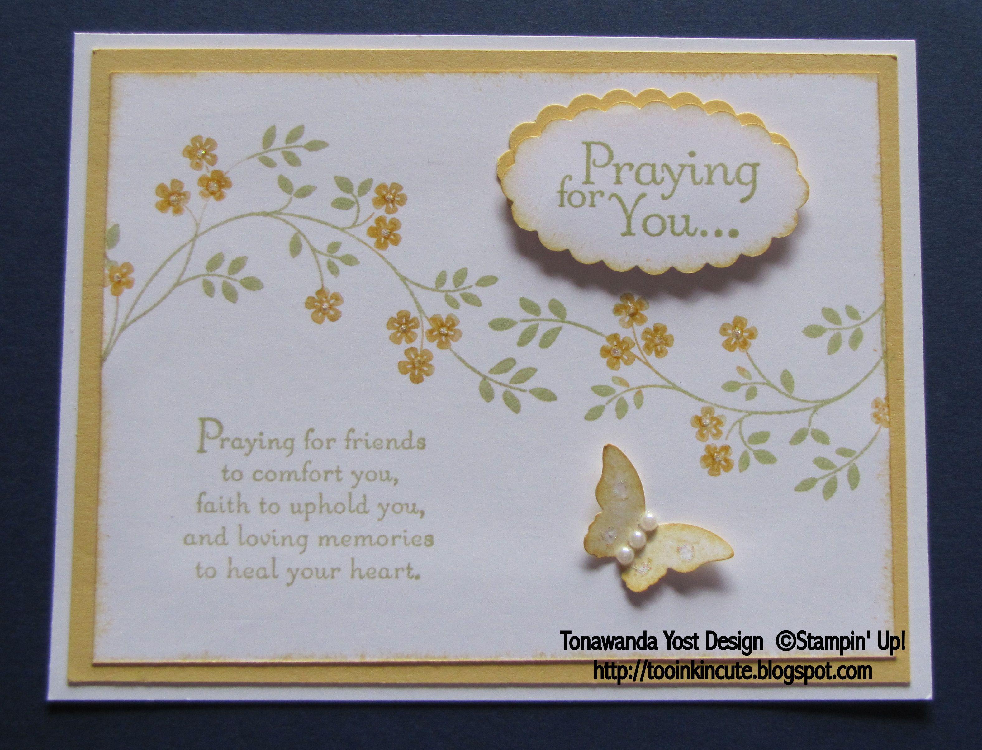 Thoughts & Prayers Stamp Set - Stampin\' Up! | Stampin Up | Pinterest ...