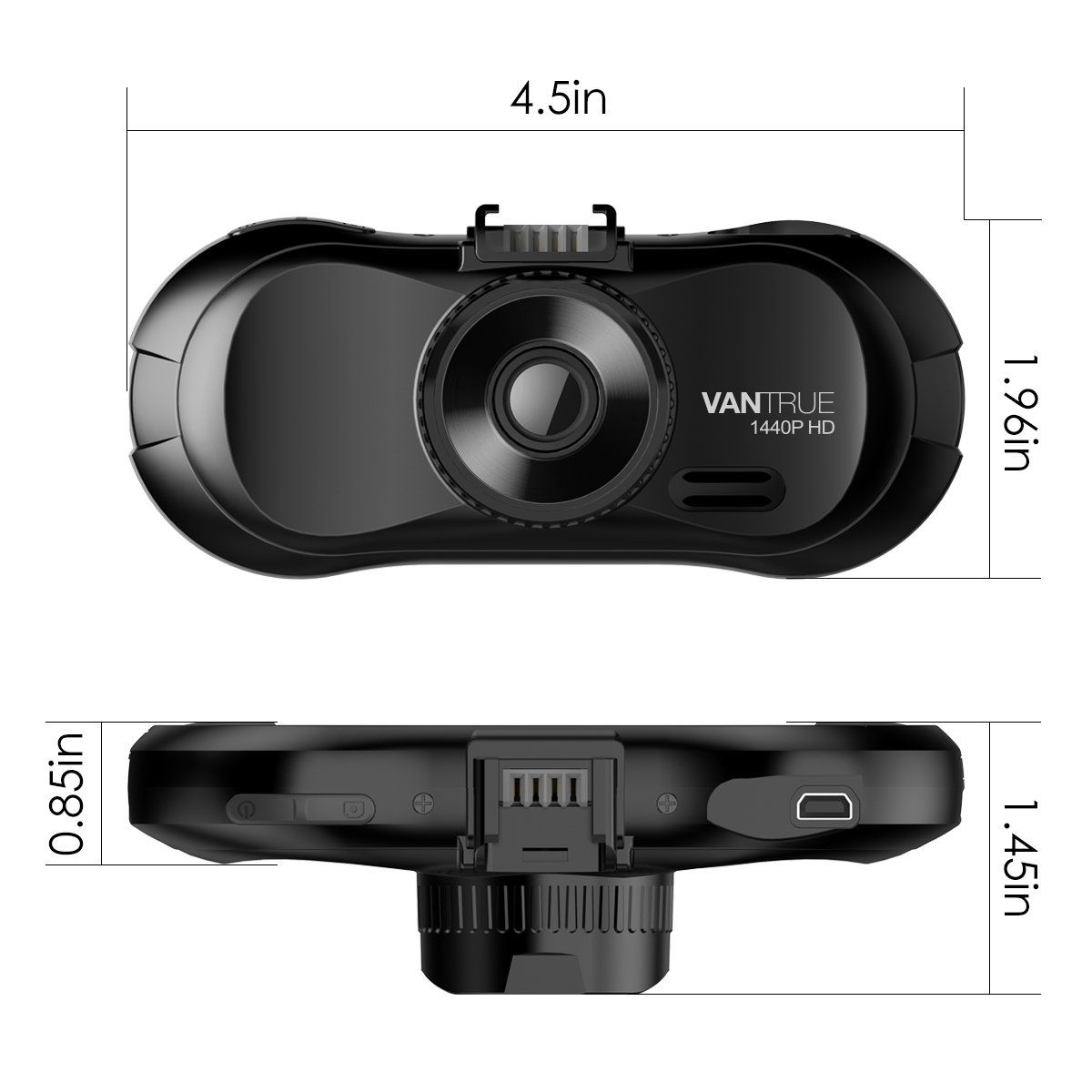 Vantrue X3 WIFI Dash Cam Super HD 2.5K 1440P Night Vision Parking Mode