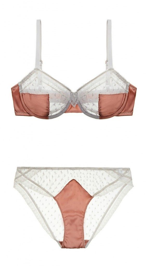 10abc322f Madame Aime Rue Des Mauvais Garcons Bra Set. There s a definite Art Deco  nod to these sophisticated and luxe pieces.