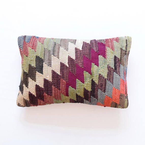 Pillow handmade turkish pillow 12x18 decorative pillow asian pillow ...