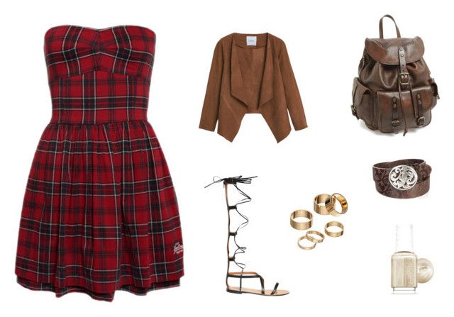 """""""x"""" by teresagrey on Polyvore featuring Frye, Apt. 9, Essie, Valentino, Overland Sheepskin Co. and MANGO"""