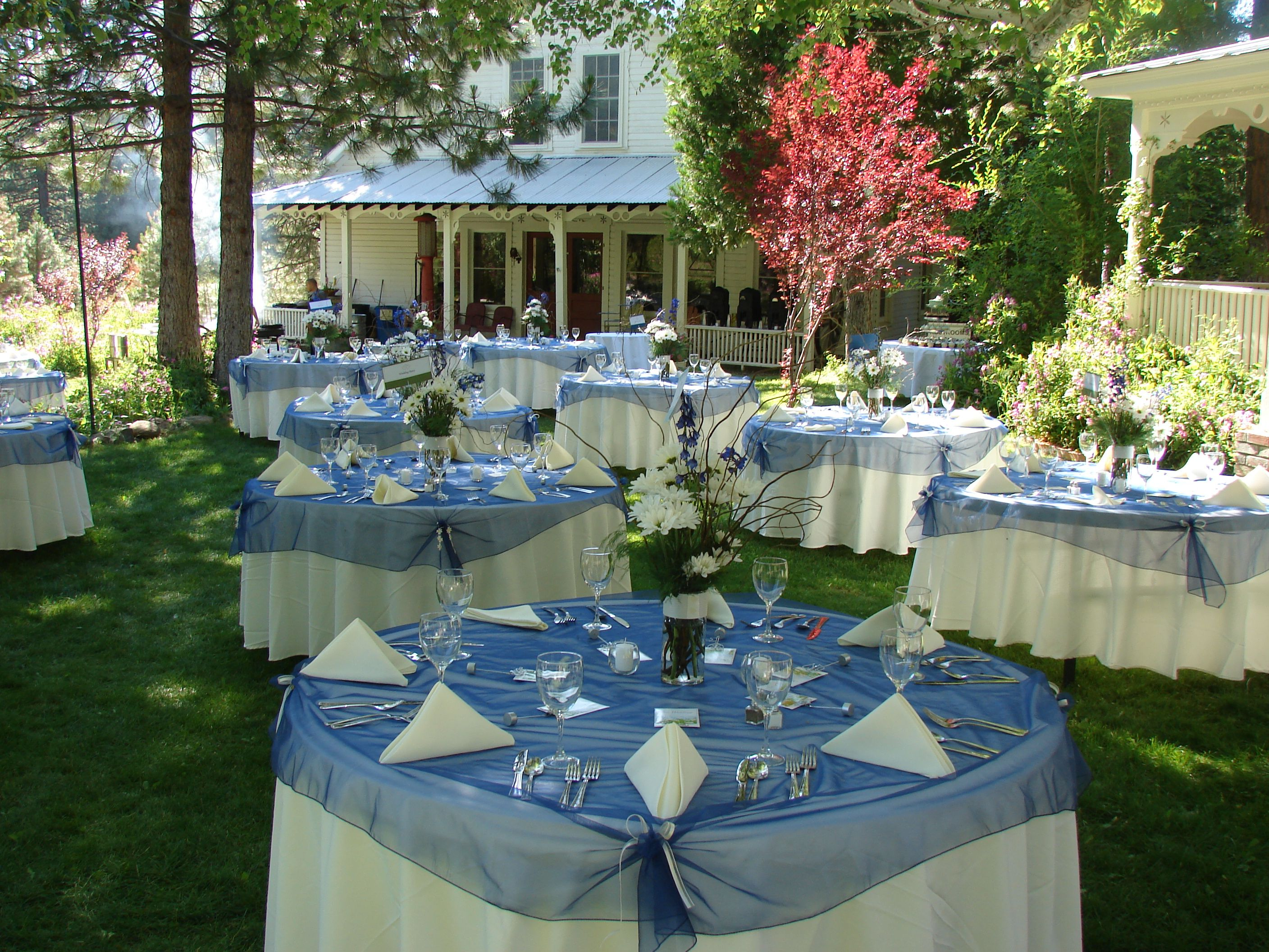 out door wedding settings setting wedding event rentals in plumas county near