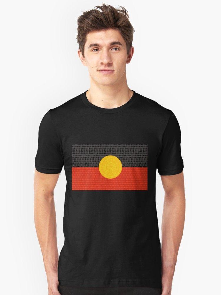 Aboriginal flag art tshirt for everyone  millions of unique designs by independent artists also unisex  shirt in bedruckte textilien und rh pinterest