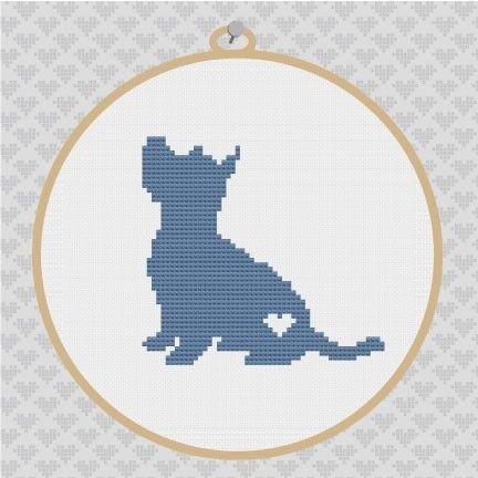 Westie Silhouette Cross Stitch Pattern by kattuna on Etsy, $3.50