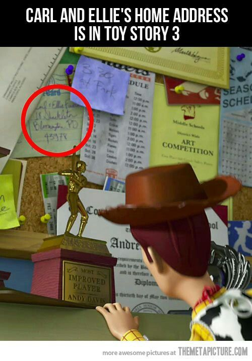 Up address in toy story 3
