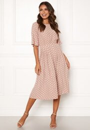Photo of Happy Holly Eloise pleated dress Dotted – Bubbleroom