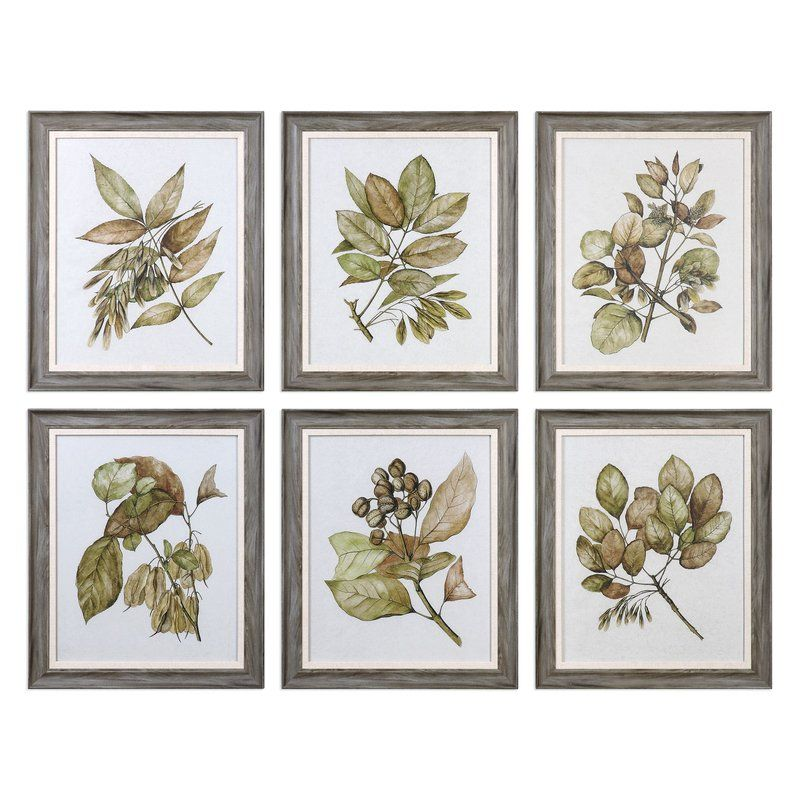 Prints are on parchment paper accented by wood tone frames featuring ...