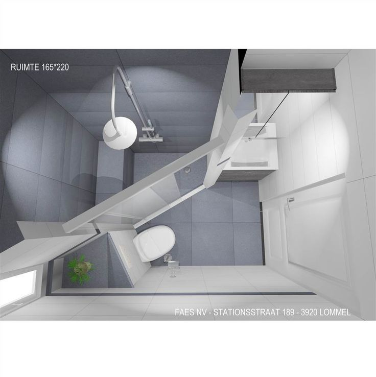 3d kleine badkamer met ruime inloopdouche faes lommel for Inrichting badkamer 3d