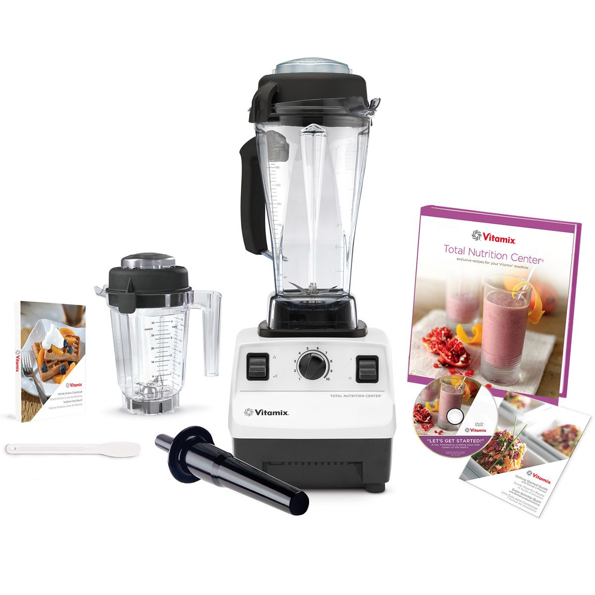 Costco Uk White Vitamix Blender Extra Mini Dry Container Instruction Dvd Recipe