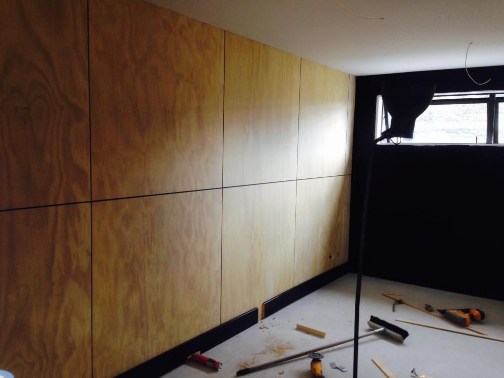 Plywood walls blonded ply interior design for Room design nz