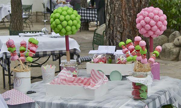 mesa dulce con materiales reciclados