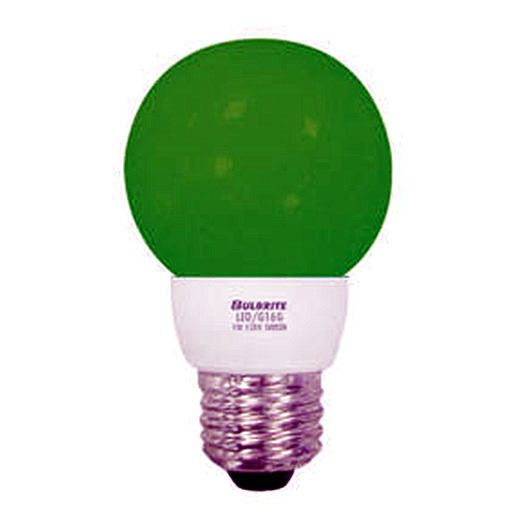 1 Watt Led G16 Globe Medium Base Green Set Of 15 Crowdz