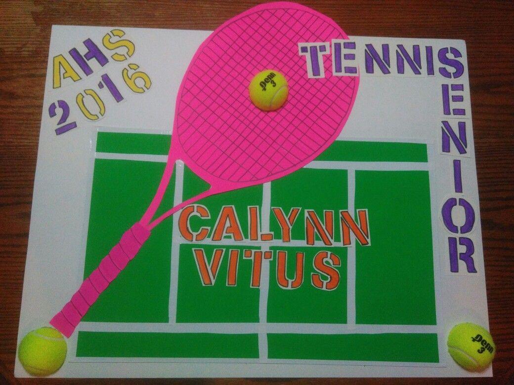 Tennis Team Senior Night Postet Senior Posters Tennis Posters Senior Night Posters