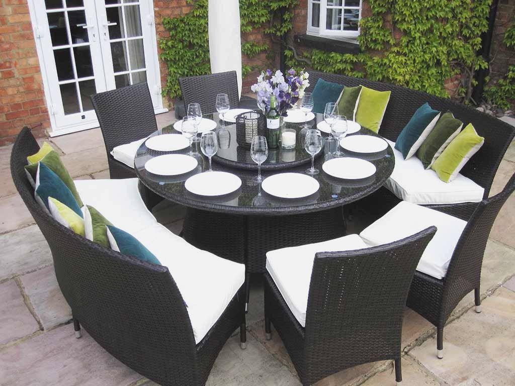 Round Dining Table Black Hr Constructionny Ide Halaman Belakang Perabot Ide