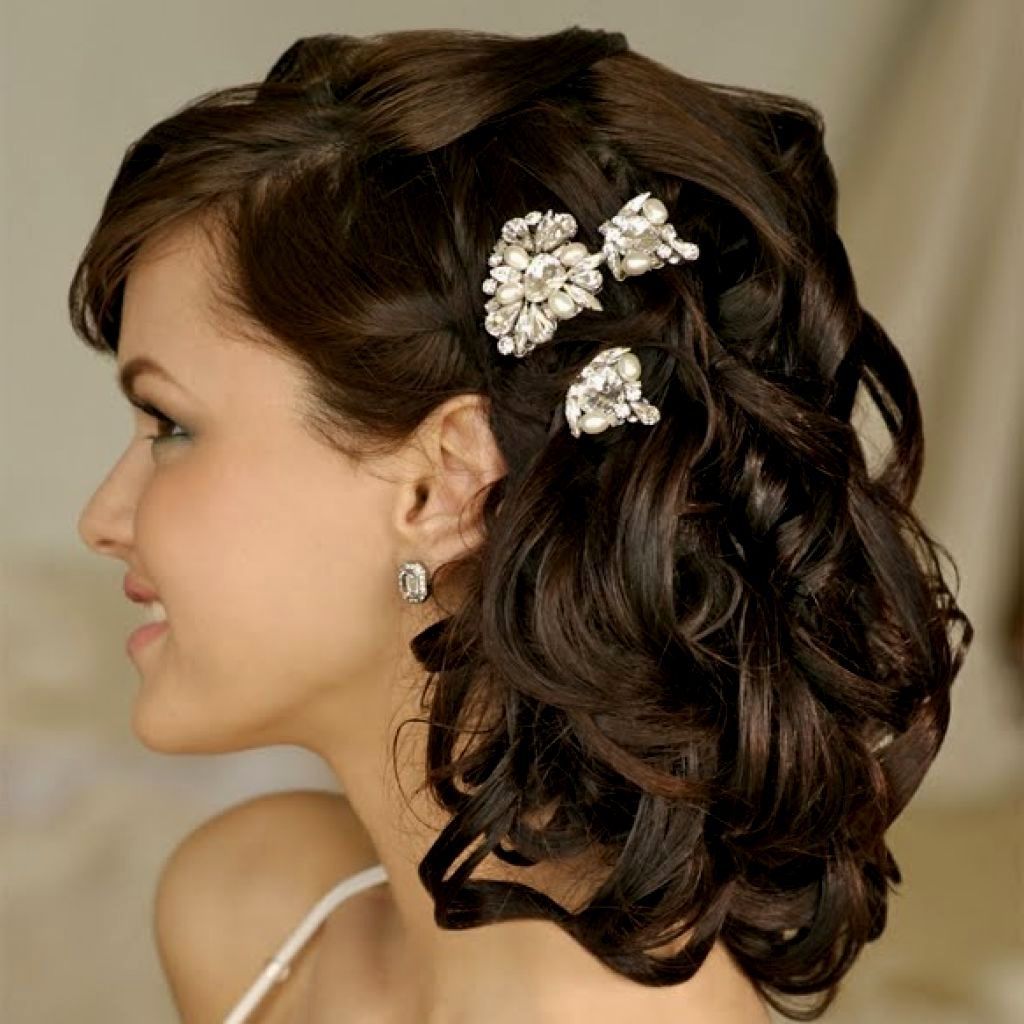 16 Gorgeous Medium Length Wedding Hairstyles: Hairstyle For Shoulder Length Hair For Wedding