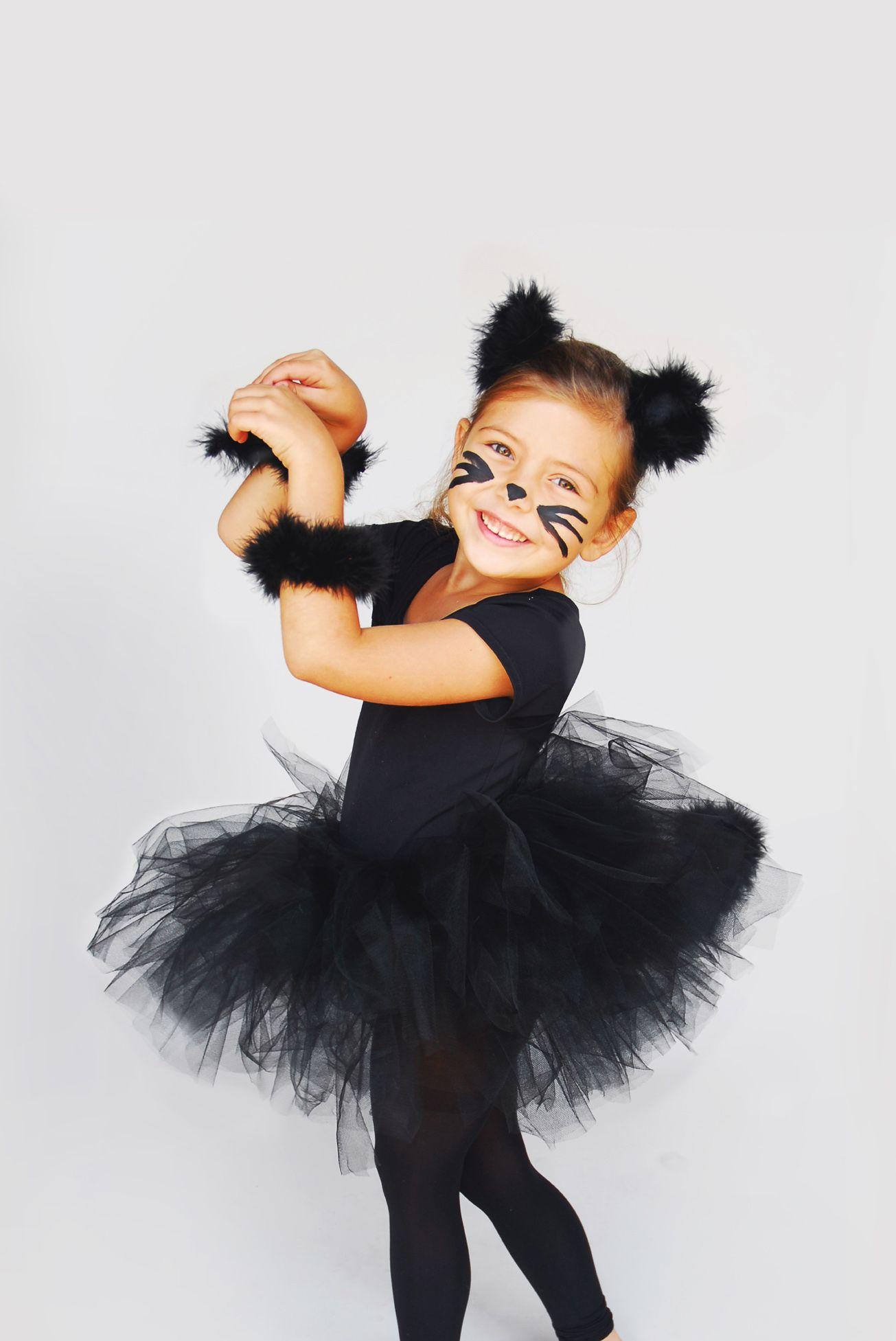 Cute DIY Little Girl Kitty Halloween Costume! | Halloween ... - photo#31
