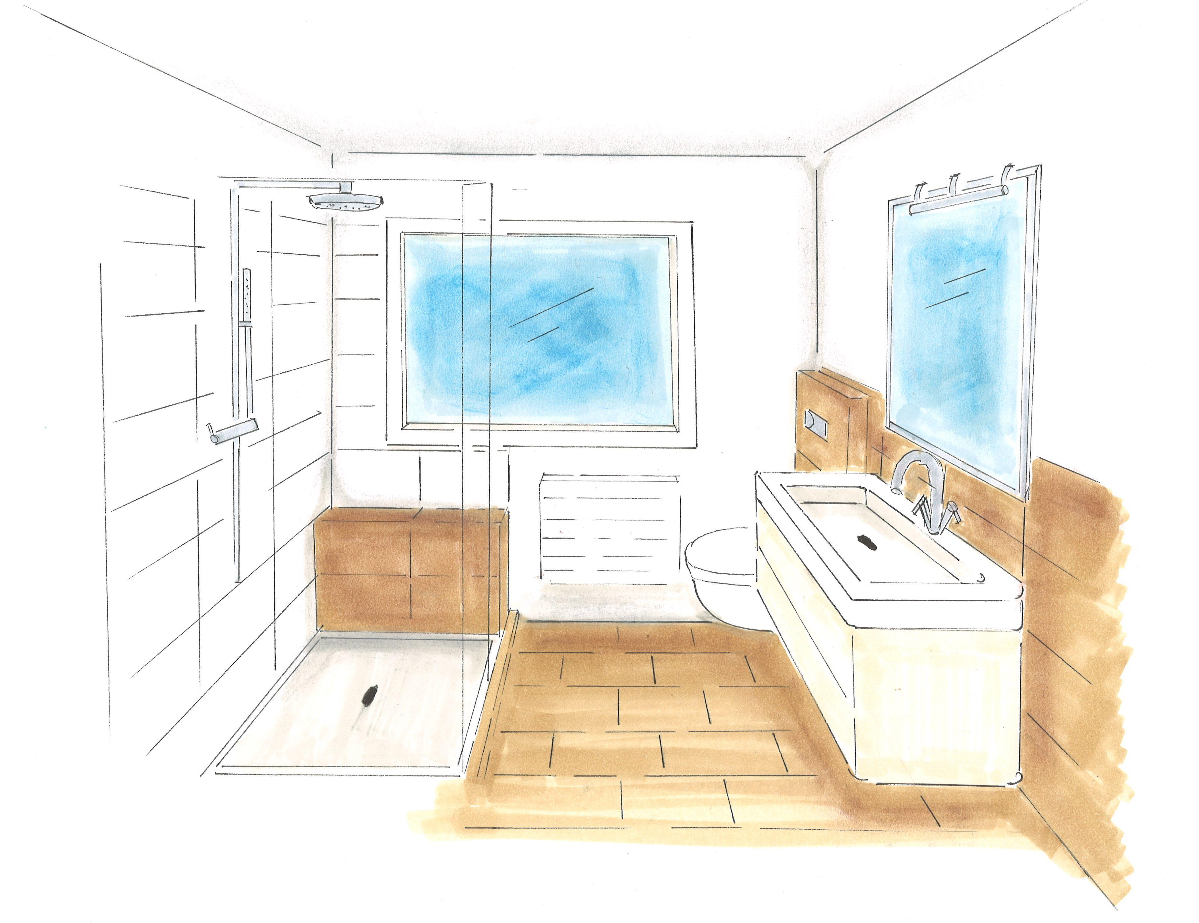 Livlig   3D perspectief   Interieurontwerp   moderne badkamer   www.livlig.nl