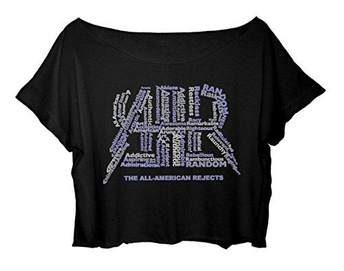 The All-American Rejects Tee Shirt Women Crop Top free ship