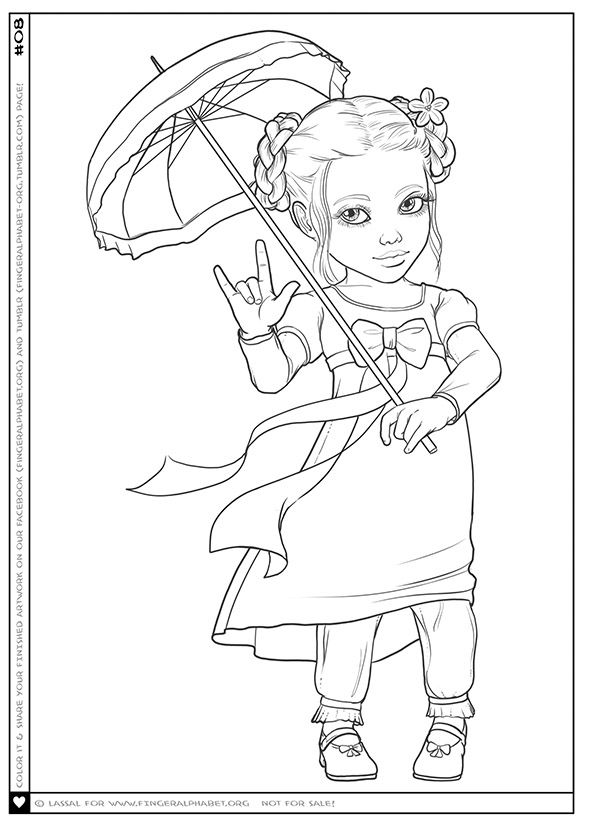 i love you ily princess and more coloring pages with asl for