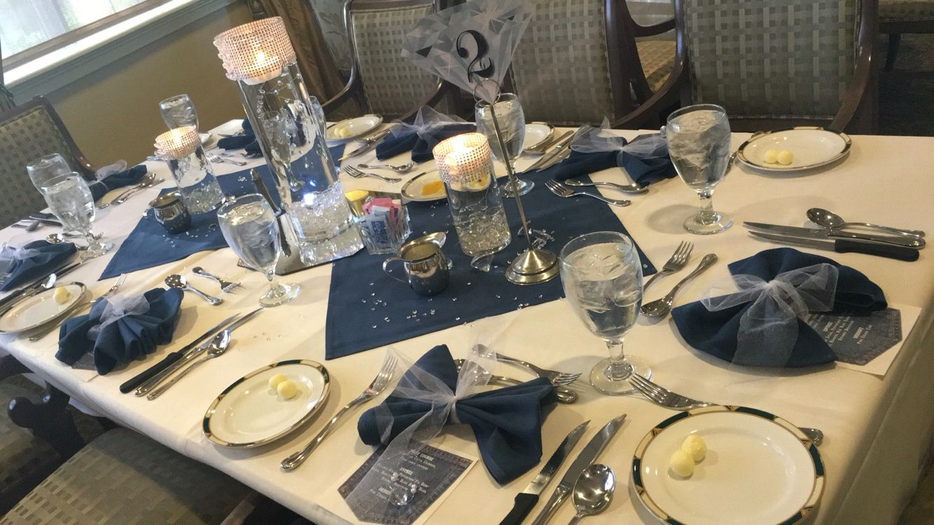 Table Decor Denim Party Diamond Party Denim Wedding
