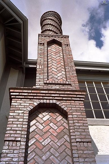 Brick Chimney Tops | ... the middle section of the original W E Masonry  chimney