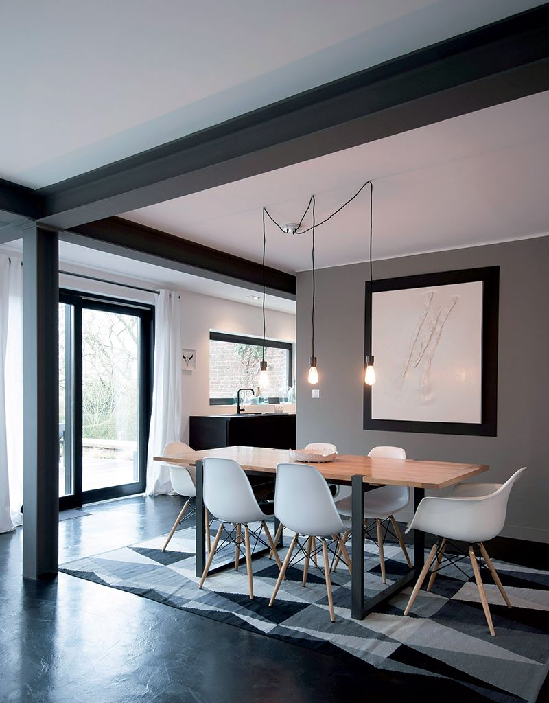 Küchenideen hdb maison cosy en black u white  décor  pinterest  esszimmer