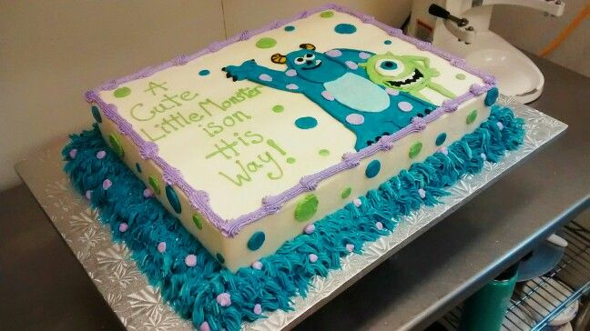 Cute, Monsters Inc, Baby Shower Cake