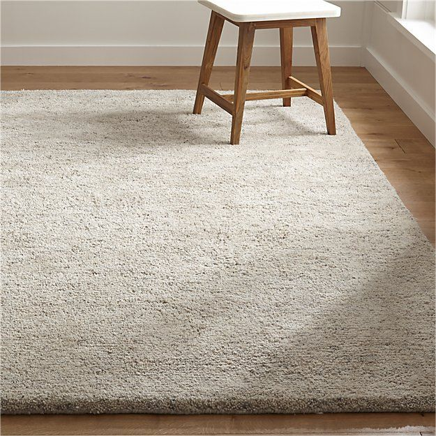 Parker Neutral Wool Shag Rug Crate And Barrel In 2020 Wool Shag Rug Affordable Rugs Space Rugs