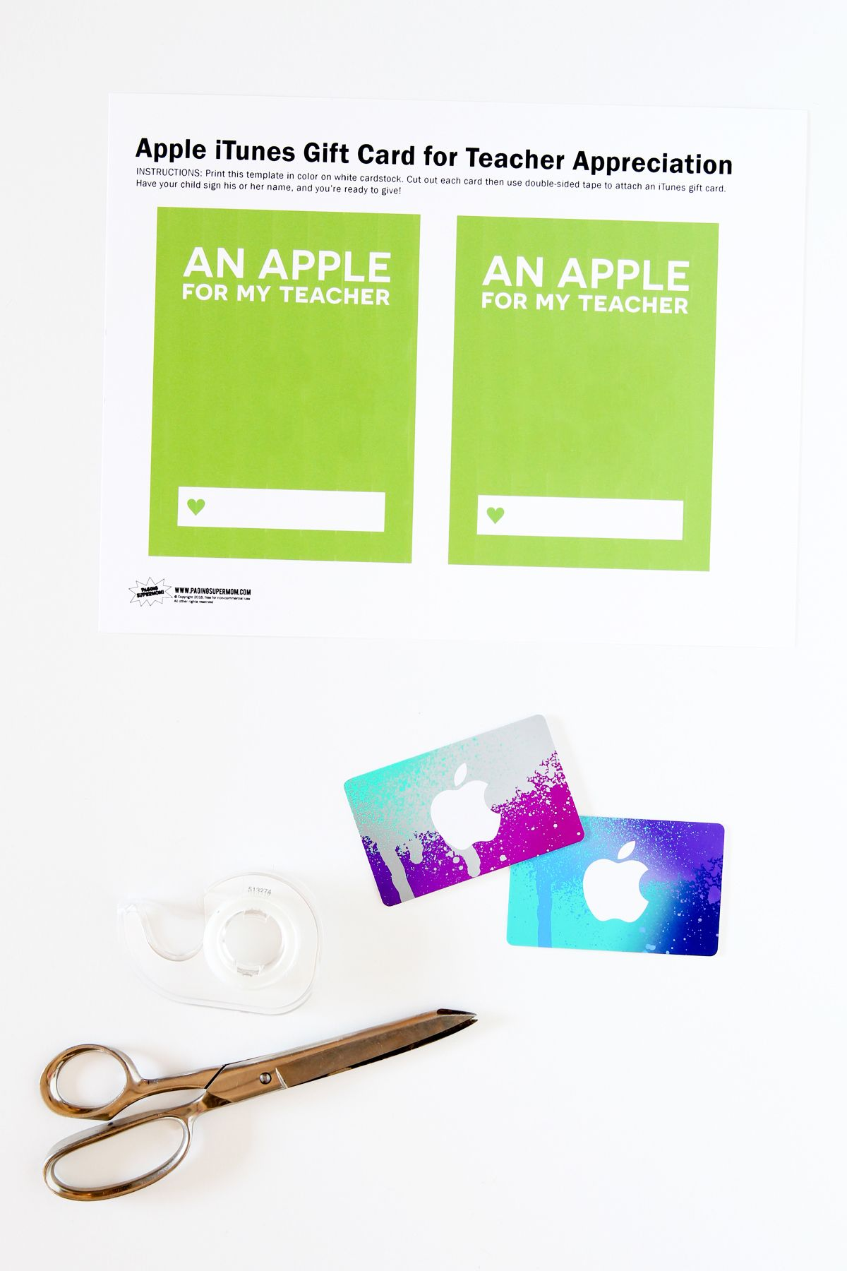 photo about Printable Itunes Gift Card named Instructor Appreciation iTunes Reward Card Cost-free Printable