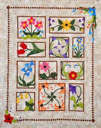 Flower Box Medley Quilt Kit