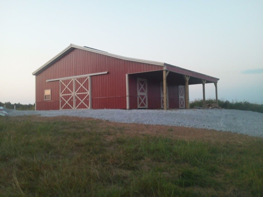 36x36x12 with 10x36 Shed - Post Frame Building www.nationalbarn.com ...