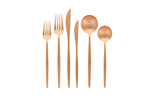 Our Unique Rosegold Metal Silverware Are The Perfect