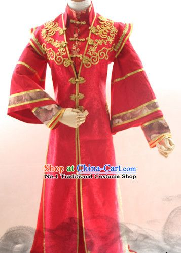 98e77e6b8 Chinese Costume Asian Fashion China Civilization Medieval Costumes Red  Bridegroom Dress