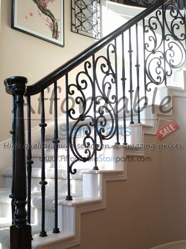 Tuscan Wrought Iron Panels Installation · Iron BalustersRailingsStaircase  ...