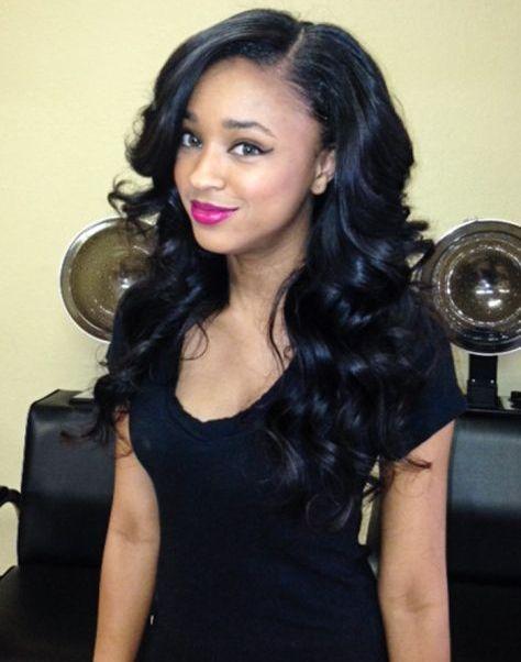 Long Wavy Hairstyles for African American Women 2015   Long wavy ...