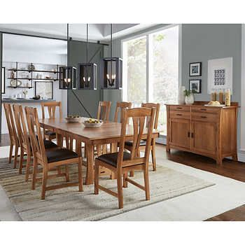 Annora 10 Piece Dining Set Dining Set Dining Trestle Dining Tables