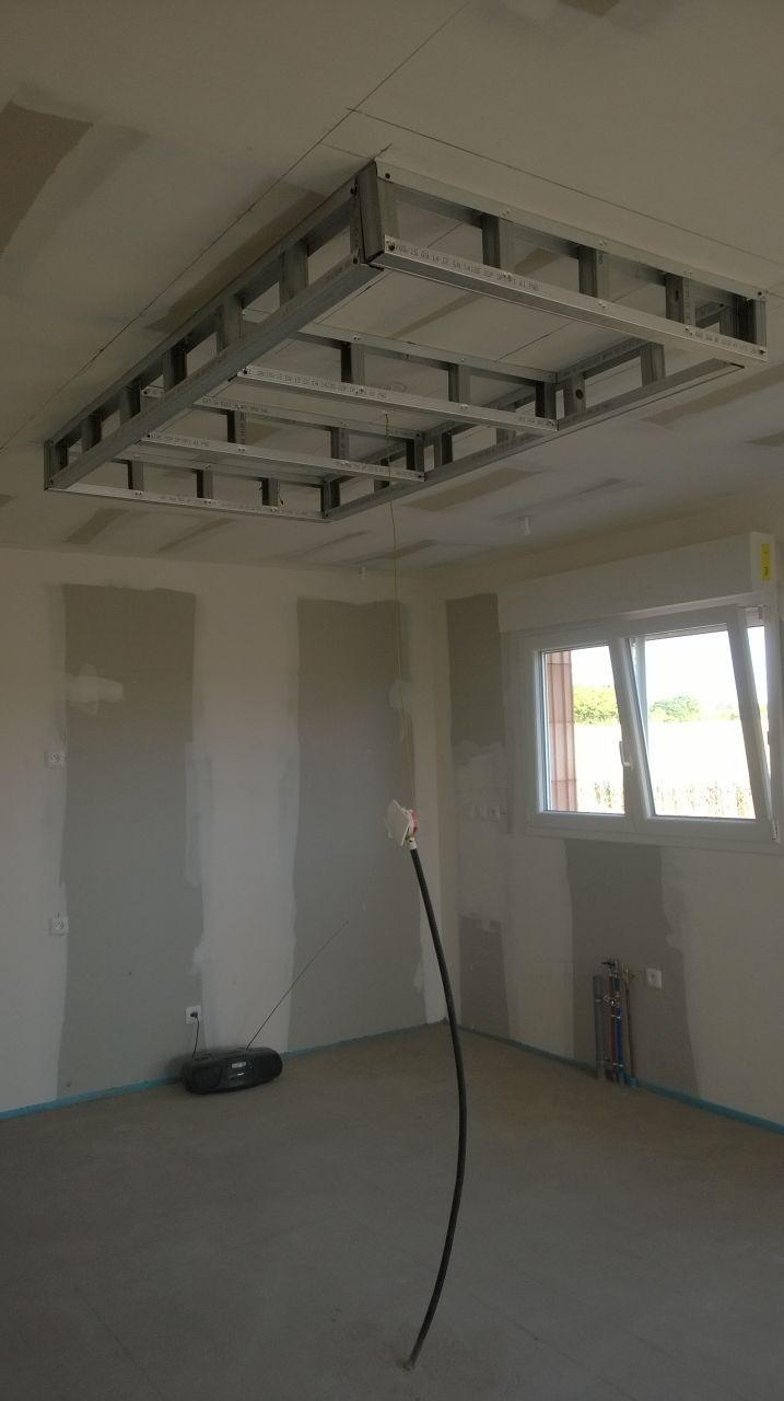 ossature faux plafond cuisine  Plafond cuisine, Faux plafond