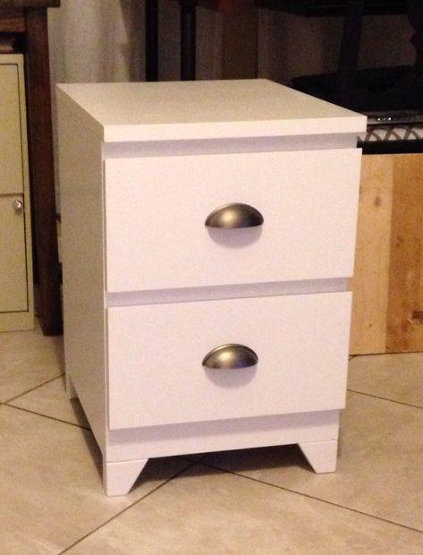 Ikea malm nightstand restauraci n muebles percheros y - Reciclar muebles ikea ...