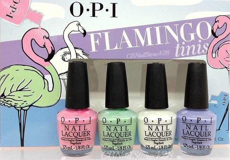 Opi Nail Lacquer Mini Flamingo Tinis Collection 4 Colors X 1 8oz Opi Nail Colors Opi Nail Polish Sets Nails