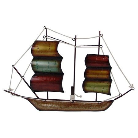 Found it at Wayfair - Metal Boat Wall Décor in Brown | WALL ART ...
