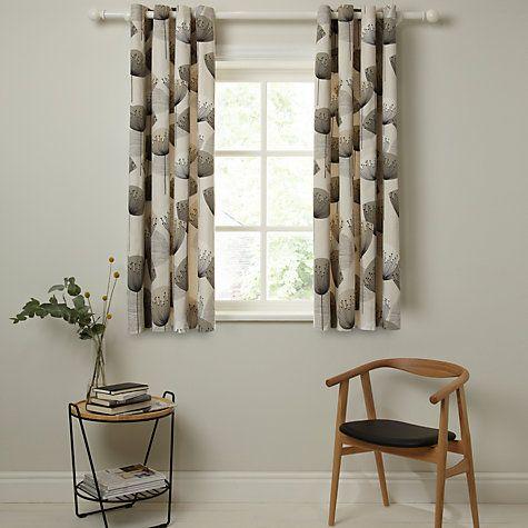 Sanderson Dandelion Clocks Lined Eyelet Curtains Neutral