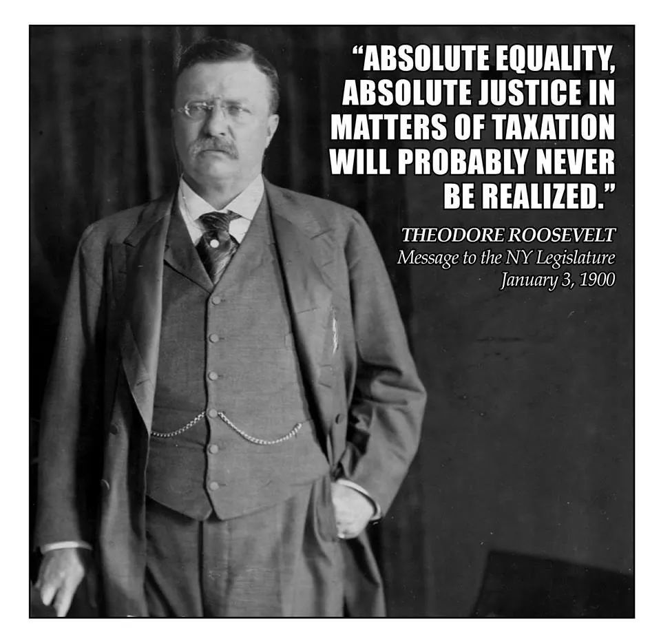 Theodore Roosevelt On Tax Equality Roosevelt Quotes Equality