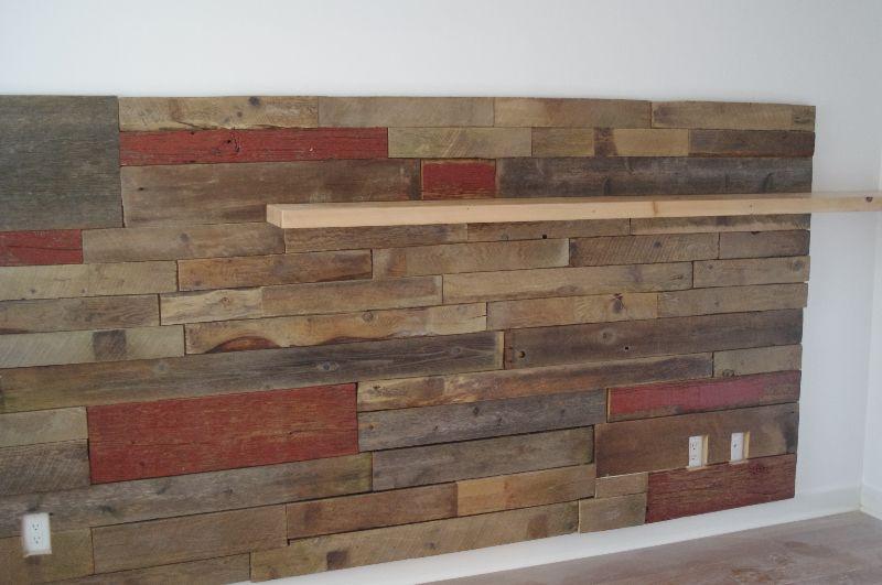 Barn Board Wall With Floating Shelf Barn Board Wall