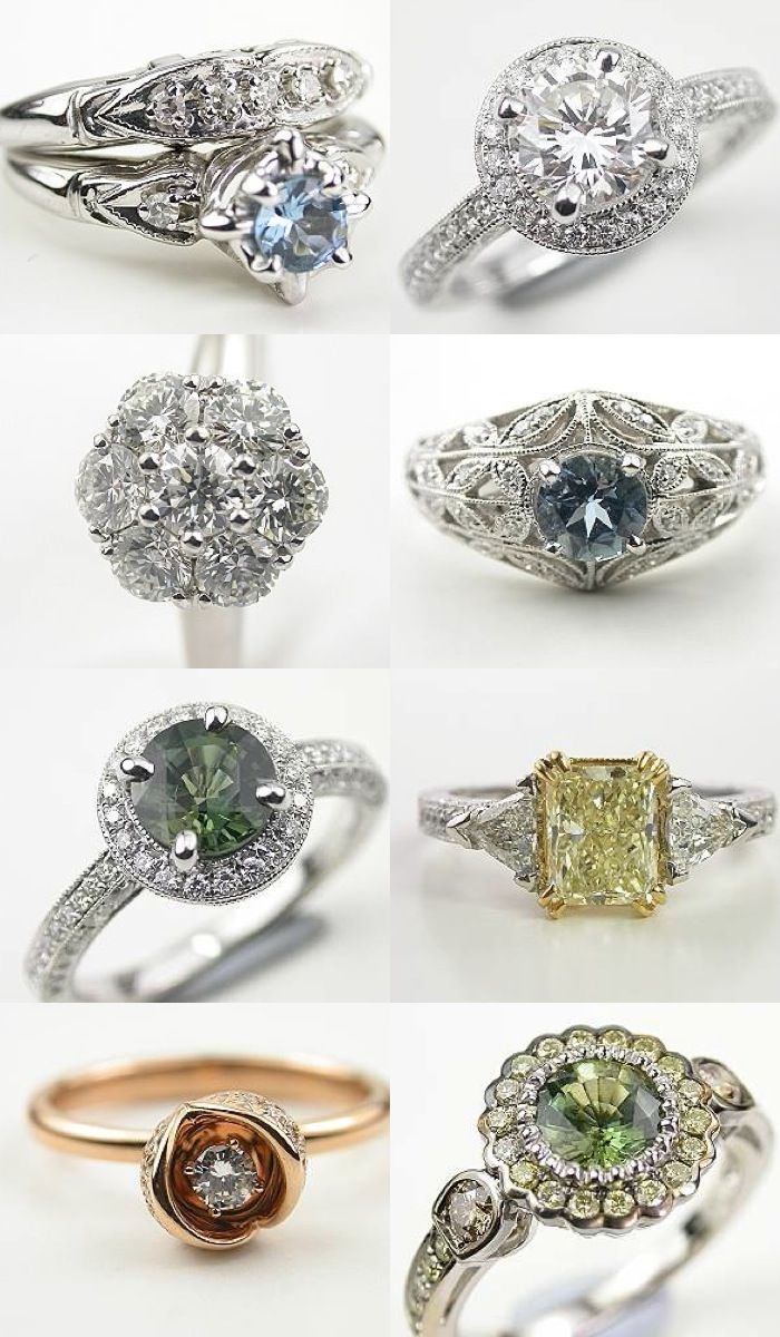 Timeless beauty antique style engagement rings from topazery to