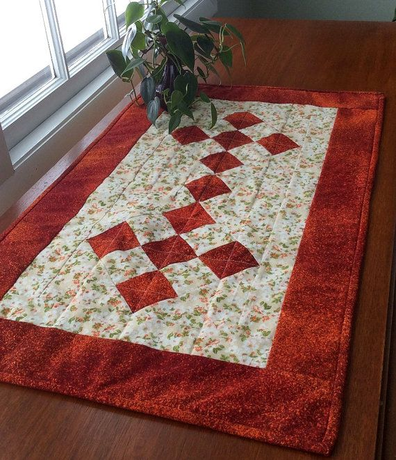 Couchtisch Patch Quilted Orange Table Runner Handmade Patchwork Orange