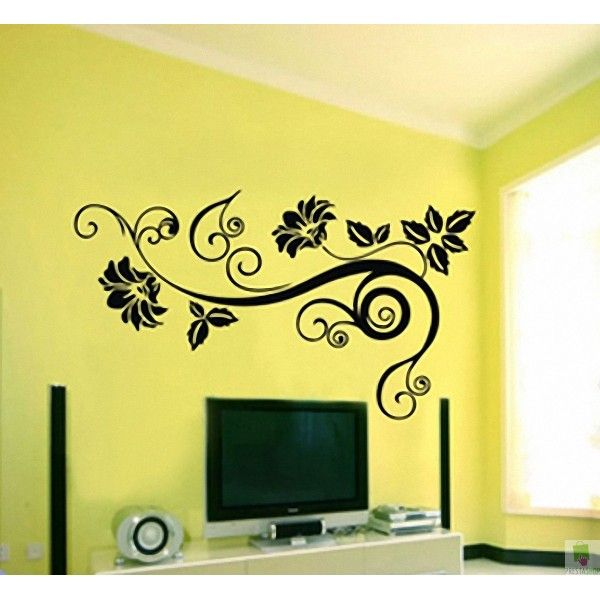 Beautiful Wall Decals Add A Floral Look To Your Walls With - Wall decals